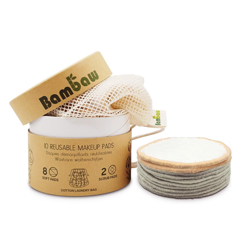 Bambaw Wielorazowe bambusowe płatki kosmetyczne 10szt